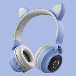Hübscher Mädchen-Himmel-Blau-Computer-Spiel Earset Radioapparat
