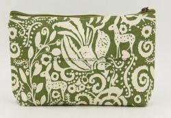 Wc Lona impresso personalizado saco cosmético, promocional de maquilhagem Senhoras Bag