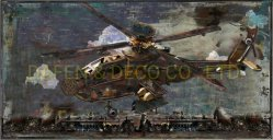 La Decoración de pared Metal Pintura arte cuerpo de hierro de aviones de combate de la dimensión 3D