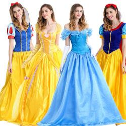 La belleza de adultos y la Bestia Bell Blancanieves vestido de noche de Mujeres Europeas y Americanas disfraces de Halloween Cosplay