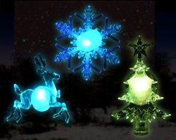 Set der Mischungs-3PCS Weihnachtslicht-der Dekoration Rotwild-Schneeflocke-des Baum-LED