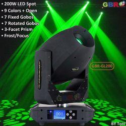 GBR-Gl200 200W LED Spot Gobo Moving Head DJ Light