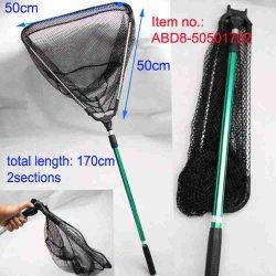 2 GesamtLength-170cm teleskopisches faltbares GummiFischernetz der Kapitel-Hoop-50*50cm