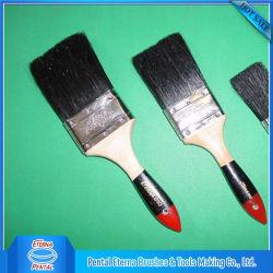 Pennello nero della setola con la maniglia di legno