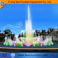 Grande capacidade de música de dança de funcionamento fonte de água