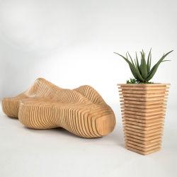 Y676fの木の波形の椅子及び植木鉢の現代豪華な営利事業の家具のビーチチェア