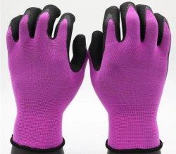 Großer Griff in nassen oder öligen Zuständen des waschbaren haltbaren gestrickten Zwischenlage-Polyester-Sicherheits-Arbeits-Nitrils beschichtete in den Palmen-Sandy-Handschuhen