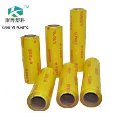 La stirata dell'involucro del commestibile di prezzi all'ingrosso del fornitore della pellicola del PVC della Cina aderisce pellicola per l'involucro dell'alimento