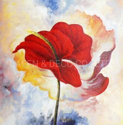 Notas florais de 2019 Novo Design (ADC7683) artesanal de pintura a óleo Wall Arte Decorativa