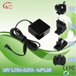 19V 1,75 ноутбук Зарядное устройство переменного тока компьютера адаптер постоянного тока для Asus