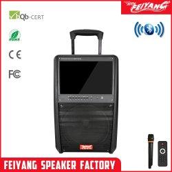 شاشة فيديو قوية 12 بوصة LED شاشة DVD كاريوكي تروللى Bluetooth البطارية صوت مكبر الصوت النشط