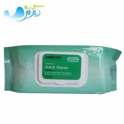 Биоразлагаемые Non-Woven влажных салфеток для взрослых органических тканей влажные чистящие салфетки