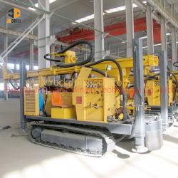 200mのポータブルの鋼鉄クローラーによって取付けられる井戸の掘削装置のディーゼル機関