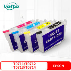 Compatible Epson T0711, T0712 T0713 T0714 Cartouche d'encre couleur pour Epsonstylusd78 D92 D120 DX4000 dx4050 dx4400 dx4450 dx5000 dx5050