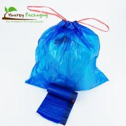 HD LD MD PE coulisse Drawtape couleur sac poubelle en plastique