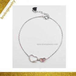 Nouvelle arrivée Rhinestone Heart-Shaped Bijoux argent 925 Bijoux Bracelet avec Gemstone