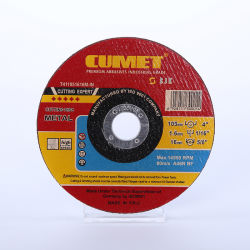 4 ' che tagliano il disco di rotella per l'abrasivo d'acciaio del metallo di Inox