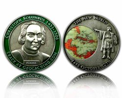 Bas est le sablage avec effet d'Ombrage spécial avec l'impression Défi Souvenir Coin
