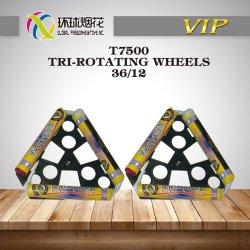 T7500 en dehors de la rotation des roues jouets Tri-Rotating ONU0336 1.4G le bonheur des enfants Fireworks pour la nouvelle année et Noël Ceebrate