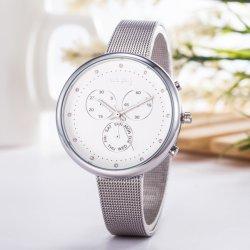 Slanke Zilveren Analoge Horloges wy-091 van de Dames van de Beweging van het Kwarts van de Diamant van Vrouwen