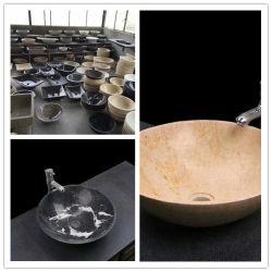 목욕탕 수채와 세면기를 위한 자연적인 돌 화강암 또는 대리석 세척 수채 또는 물동이