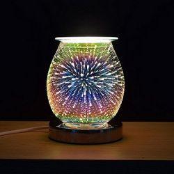 وظيفة اللمس زجاج ثلاثي الأبعاد جهاز تسخين الشمع الكهربائي من القماش الخرق الخاص بالزجاج أولاً