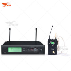 De Draadloze Microfoon van de Hoofdtelefoon van Slx, de UHFMicrofoon 800MHz van de Condensator aan 820MHz