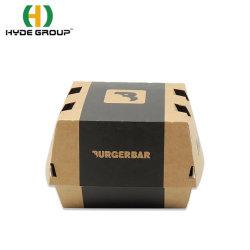 도매 크라프트 종이 햄버거 박스 음식 테이크어웨이 스낵 종이 포장 상자