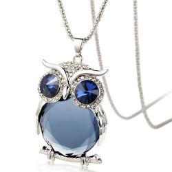 Le design de mode Crystal en alliage de Owl Collier Pendentif pour les femmes