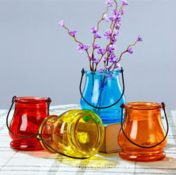 10*8cm 300ml Hot Sale Vase en verre de couleur