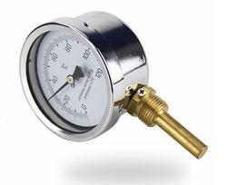 Industriële Mariene BimetaalThermometer met Messing Thermowell