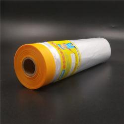 Films de protection de la peinture en PEHD Sanian Combiné auto-adhésif Papier crêpe masqueur Tape