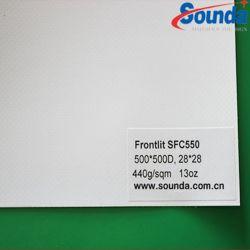 디지털 인쇄를 위한 Sounda PVC 코드 기치 PVC 입히는 Frontlit 물자