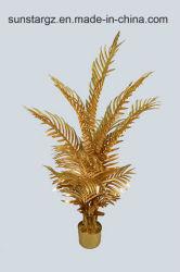 De gouden Areca Kunstmatige Installatie van de Palm van de Parel voor Decoratie (51107)