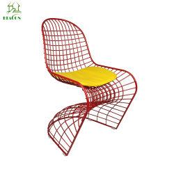 A reprodução de formato S Arame Panton Cadeira de jantar