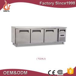 acier inoxydable de haute qualité système de refroidissement du ventilateur de table de travail de préparation à la Pizza