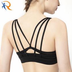 Kundenspezifisches Yoga Sports die reizvolle Yoga-Büstenhalter Soem-Firmenzeichen-Mädchen-Sport-Eignung, die reizvollen großen Brust-Frauen-Büstenhalter kleidet