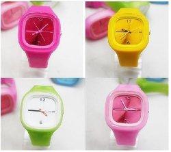 실리콘 젤리 시계, 젤리 실리콘 시계, 스포츠 손목 시계(HLW03)