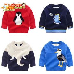 Niños Bebés jerséis Oversize cuello suéteres Jersey clásico Tejidos Jacquard Puente otoño cálido suéter de cuello redondo grueso