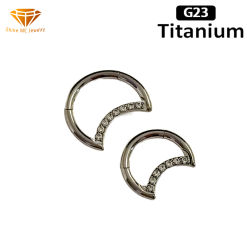 쥬얼리 G23 티타늄 바디 피어싱 문 패션 노즈 링 3A Zircon Tp2528