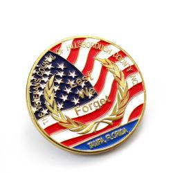 Medalhas de moedas metálicas de fornecedor sem amostra Desafio Moeda Personalizada