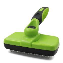 Chien Chat l'axe long auto-nettoyage doux brosse à cheveux à niveler