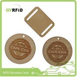Cartão chave NFC Madeira Verde Ntag216 Chave de Luxo (ISOW)