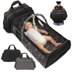 5 in 1 Mummy Nappy luiertas met Travel Rugzak Opvouwbaar babybed