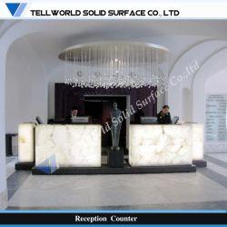 Le design contemporain de lumière LED comptoir de réception de salon commercial (TW-MART-075)