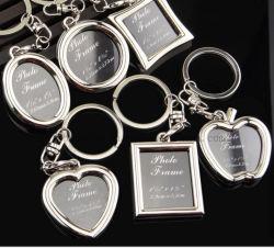 판촉 선물에 대한 반지를 포함한 OEM 로고 금속 키 체인