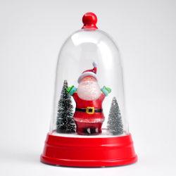 Lampe LED 2020 Santa Musical vacances de Noël Cadeau de Noël 3D Deciration Tableau cadeau de lumière