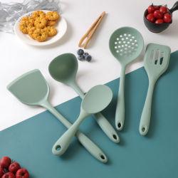Non-Stick Accesorios de cocina utensilios de cocina al por mayor conjunto de utensilios de cocina 5 PCS Conjunto utensilio de cocina de silicona de la herramienta de cocina