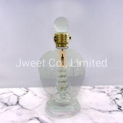 Ovale Form-Raum-Wein-Glasflasche mit Kristallkugel-Stopper