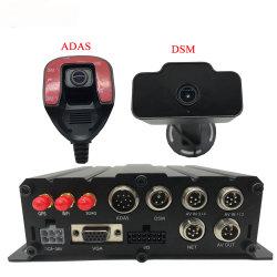 H. 265 Auto GPS Audio Recorder 4-kanaals VGA ondersteuning 256 GB Dual SD Card Mdvr Car Recorder Monitor